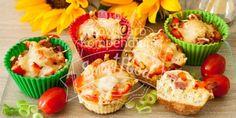 Pizzamuffins Low Carb Klein, herzhaft, lecker - Muffin trifft Pizza