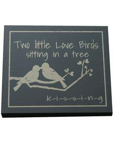 Twelve Timbers 'Love Birds' Sign