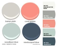 Paint colors from ColorSnap by Sherwin-Williams - Home & DIY Coral Paint Colors, Paint Colors For Home, House Colors, Coral Accent Walls, Coral Accents, Bedroom Color Schemes, Bedroom Colors, Coral Walls Bedroom, Family Room Colors