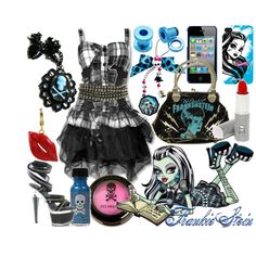 """Frankie Stein (Monster High)"" by krystle-kryptonite on Polyvore"
