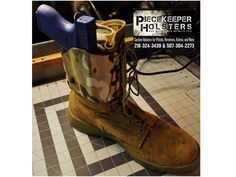 """PieceKeeper Holsters, Giving ankle holsters """"The Boot""""! Boot Holster, Kydex Holster, Bug Out Gear, Custom Holsters, Tac Gear, Cool Gear, Concealed Carry, Tactical Gear, Survival Gear"""