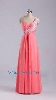 One Shoulder Prom Dress, Red Prom Dresses, Prom Dress 2014, Bridesmaid Dress, Evening Prom Dress, Womens Formal Evening Dresses on Etsy, $109.00