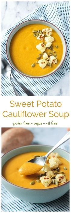 Vegan Sweet Potato Cauliflower Soup