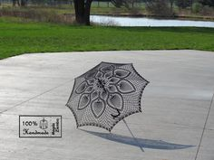 46 Wedding Black Lace Crochet UMBRELLA PARASOL, Made in USA, Mothers Day Wedding, Party Favor- Made to Order via Etsy