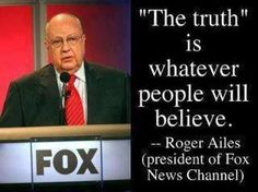 Roger Ailes - What is the truth?  #politics #GOP #foxnews