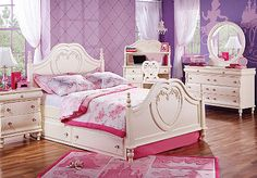 Princess Bedroom - Full Size    From Rooms To Go Kids