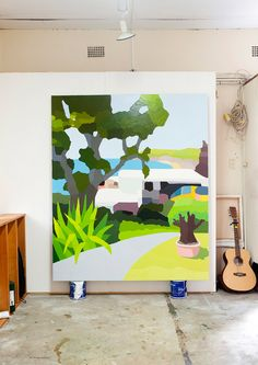 Feed for thought - Michael Muir Artist, photo by Carine Thevenau, found over at The Design Files www.alexfultondesign.com