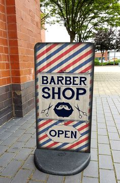 Barbershop A-Board Pavement Sign - Barber Shop Sign, Hair Salon, EcoFlex 2 in Business, Office & Industrial, Retail & Shop Fitting, Advertising/ Shop Signs | eBay!