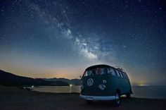 Milky Way and meteors ( and VW campervan!) over Sardinia #kombilove