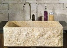 Lavabo de piedra rstico Deco Pinterest Bath Interiors and