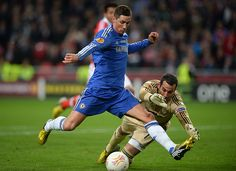 ~ Fernando Torres of Chelsea FC scoring against SL Benfica in the Europa League Final ~