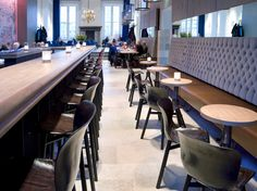 Functionals, Wendela barstools and chairs at Brasserie Prinsenhof, Groningen, The Netherlands