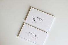 A Little Bird Branding by Belinda Love LeeA watercolor branch graces across the delicate logo. The branding was designed with the concept of 'less is more' in mind. These cards are print on 600gsm textured cotton paper with the touch of subtle embossin…