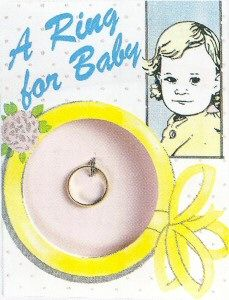 Vintage baby ring...both my girls had one :)