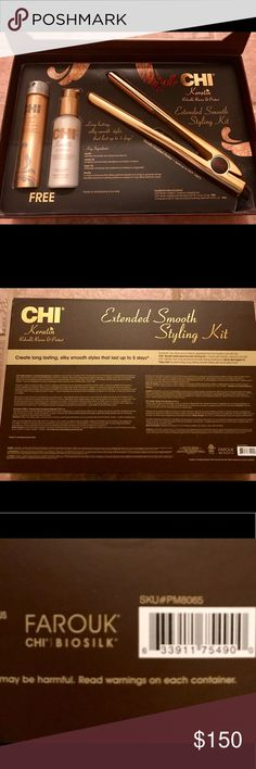 Authentic Chi Styling Set Limited Addition CHI Keratin Infused Flat Iron Never Opened Have lowered price twice *No Trades* Chi Other