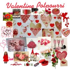 Valentine Potpourri by patchworkcrafters on Polyvore featuring art