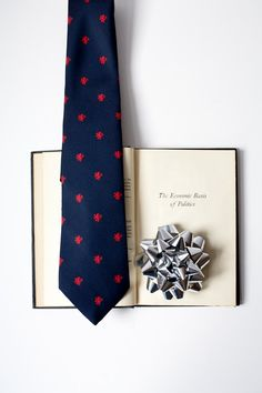 Vintage Book & Tie  The Economic Basis of by PomegranateVintage, $25.99
