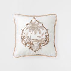 PALM TREE EMBROIDERED CUSHION - Cushions - Bedroom | Zara Home United Kingdom