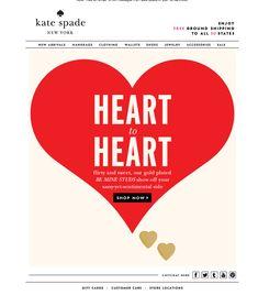 b1d2f92be8e6 kate spade valentines Newsletter Layout, Email Newsletter Design, Email  Newsletters, Email Design,
