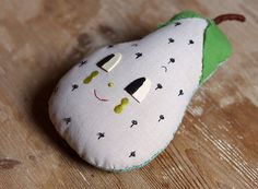 Pear. Decorative wall hanger. One-of-a-kind doll by misakomimoko