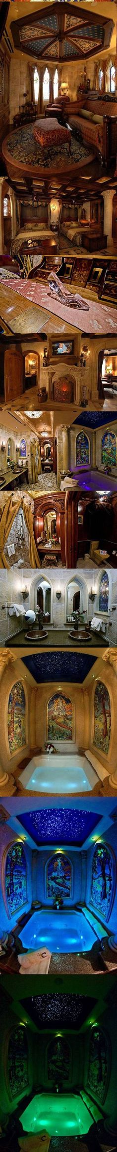 This is the beautiful suite inside Sleeping Beauty's castle i think??? I'm not sure if it is her's or Cinderella's castle.