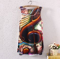 SUMMER WOMEN SLEEVELESS MUSICIAL NOTE GRAPHIC PRINTED T SHIRT BLOUSES VEST TOPS