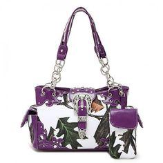 Concealed Carry White Camo Handbag