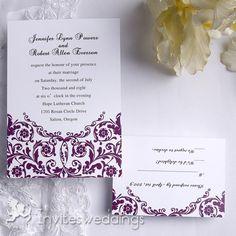 Fresh Winding Vines Wedding Invitation IWI102