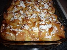 Great for Christmas morning; cream cheese french toast casserole!
