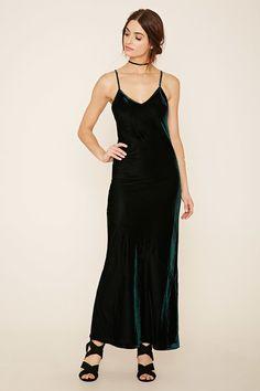 Emerald Velvet Cami Maxi Dress- On sale!