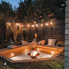 Credit to Logan Dodd's for the inspiration Backyard Seating, Backyard Patio Designs, Fire Pit Backyard, Backyard Landscaping, Back Garden Design, Casas Containers, Backyard Makeover, Outdoor Living, Pergola