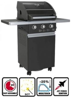 Sole Gourmet 3GBK Series 3Burner Propane Gas Grill and Cart Black * Want to know more, click on the image.