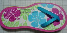 Stamping 101: Aloha Flip Flop Card
