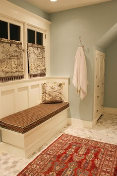 Yarmouth Blue / Benjamin Moore.  Another room with creamier white trim