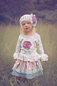 Vintage English Garden Skirt & Top Set