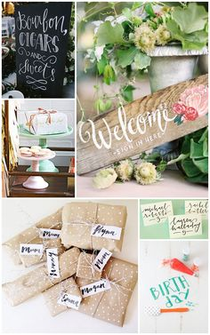 Checkout the endless ways to add pizzazz to your parties with hand lettering ideas from a wonderful new book! Diy Party Crafts, Diy Party Decorations, Diy And Crafts, Lettering Ideas, Hand Lettering, Corporate Event Design, Party Invitations, Invitation Ideas, Chalkboard Fonts