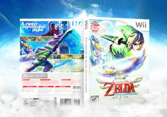 The Legend of Zelda: Skyward Sword Wii Box Art Cover by Martiniii332 >> not liking that white diagonal line below link's face though. otherwise, it's still terrific.