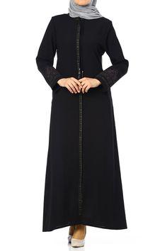 Butikzade - Nur Ferace DF-10080-01-Siyah The Dress, Cold Shoulder Dress, Dresses, Fashion, Vestidos, Moda, Fashion Styles, Fasion, Dress