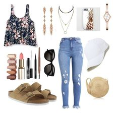 """""""Untitled #79"""" by arkatonic on Polyvore featuring Aéropostale, Birkenstock, Fernando Jorge, MAC Cosmetics, DKNY and Sole Society"""