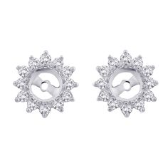 0.50ctw Diamond Earring Jackets In 14k White Gold - SDTDS-10003090   The Diamond Supplier