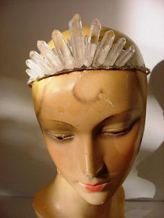 Quartz Crystal Fairy Queen Crown Tiara