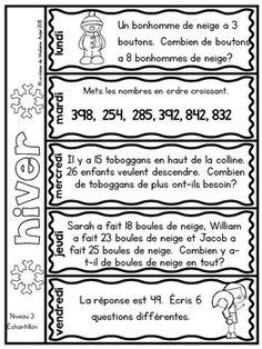 Le problème du jour: Third Grade French Math Word Problem of the Day Bundle 3rd Grade Reading, Third Grade Math, Grade 2, Math Words, Spelling Words, Reading Comprehension Activities, Fun Math, Math Class, Math Word Problems