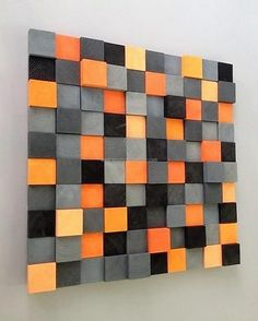 No one can think cutting the pallets into small square boxes can end up in an appealing wall art like this one; there is no need to buy the expensive wall arts from the market when you can create one like this at home. Any color of paint can be used for making the idea according to your taste and surroundings.