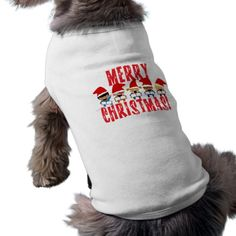 Cartoon Baby Carolers - Merry Christmas Doggie Shirt #DogShirt #petShirt #christmasPet #christmasdog #gravityx9 #ilovexmas #zazzle