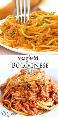 This traditional Spaghetti Bolognese recipe is an easy dinner idea for the family. Kids love this flavorful meat sauce! This traditional Spaghetti Bolognese recipe is an easy dinner idea for the family. Kids love this flavorful meat sauce! Italian Recipes, Beef Recipes, Vegetarian Recipes, Chicken Recipes, Healthy Recipes, Easy Dinner Recipes, Easy Meals, Spagetti Recipe, Simple Spaghetti Recipe