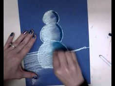 Snowmen At Night - Chalk Pastel Drawing - YouTube More