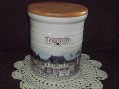 LONGABERGER Pottery 2 Quart Homestead Crock w/ Sealable Lid or Canister USA 1999 #Crock
