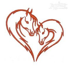 Horse Couple Embroidery Design