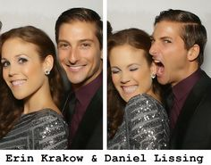 Erin Krakow and Daniel Lissing When Calls The Heart