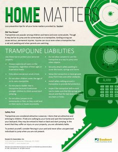 Home Matters: Trampoline Liabilities